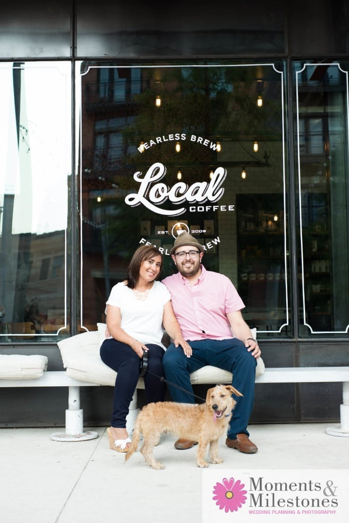 Engagement Session Photography at Local Coffee in The Pearl