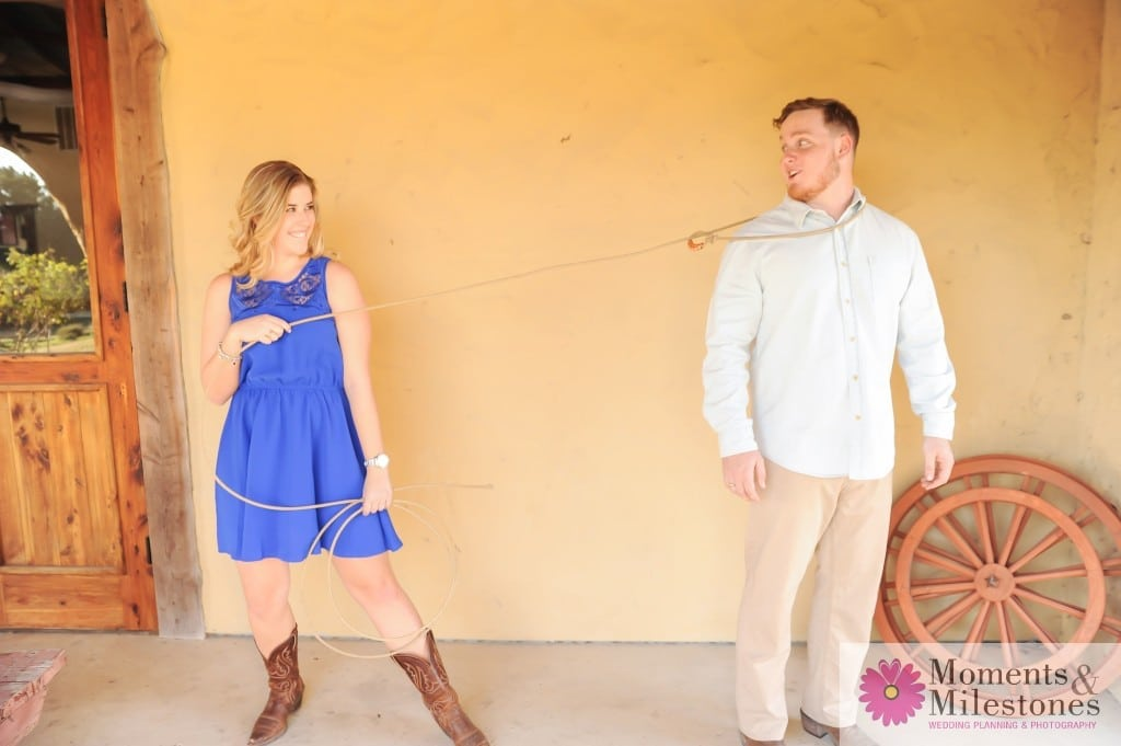 San Antonio Roszell Gardens Engagement Photography