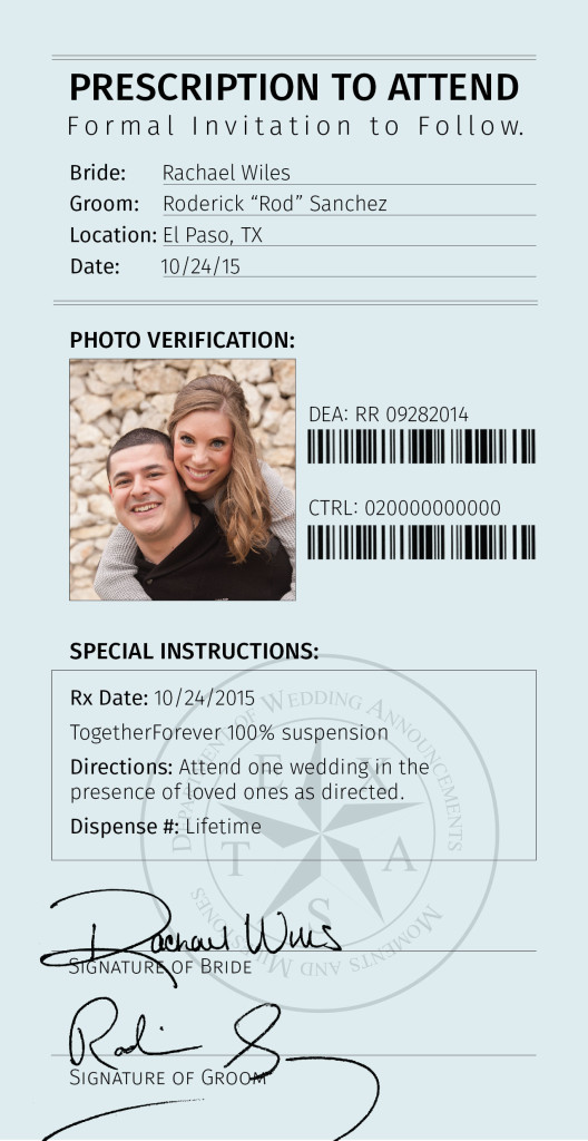 Pharmacy Theme Save The Date Magnet Design