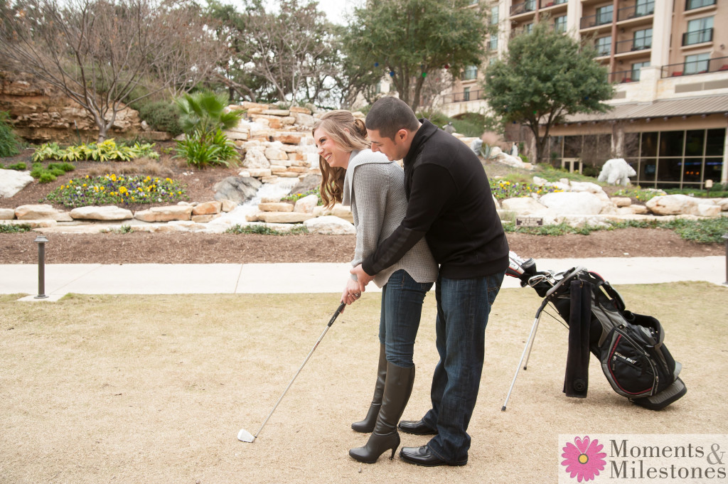 San Antonio JW Marriott Engagement Photography and Save The Dates