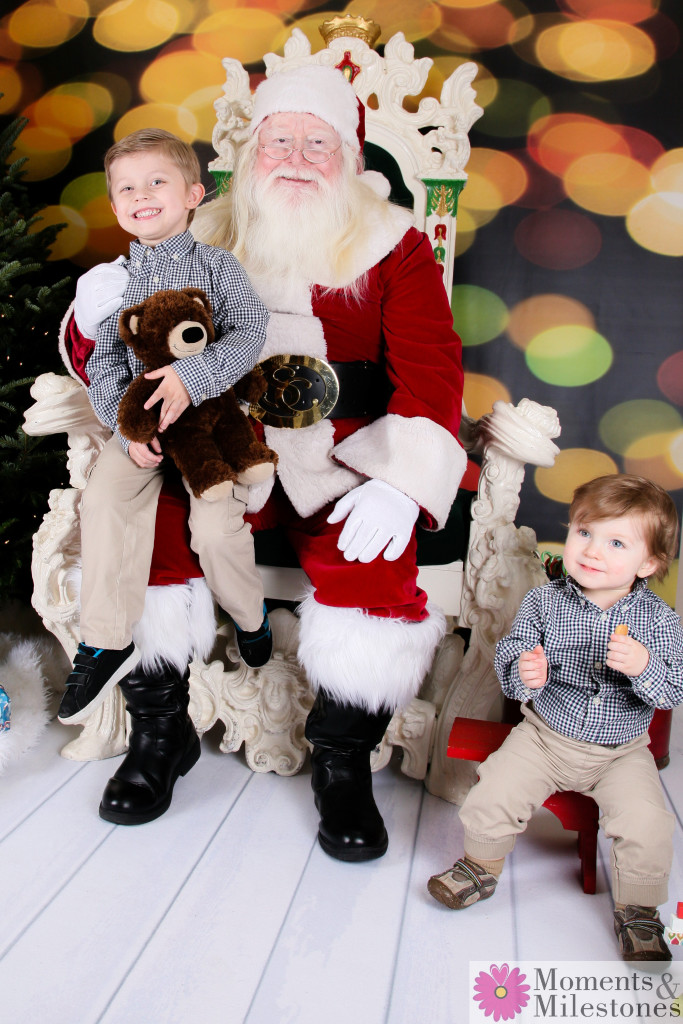 Santa Photography Sessions At The Moments and Milestones Portrait and Play Studio San Antonio Texas