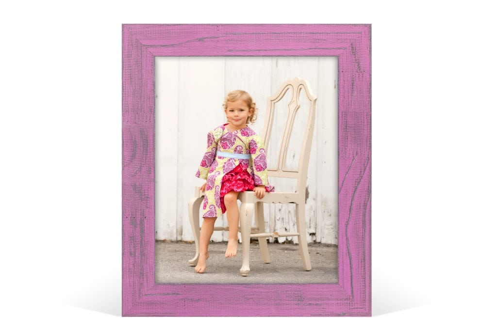 Valentine's Mini Sessions Pink or White Distressed Framed Print