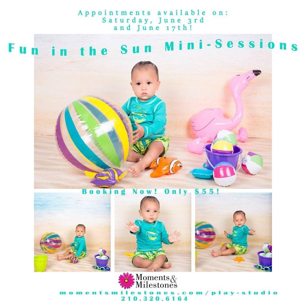Monthly Mini Sessions at Moments & Milestones Studio Photographer in San Antonio, Texas