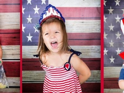 Americana Picnic Monthly Mini Sessions 4th of July themed at the Moments & Milestones Studio!