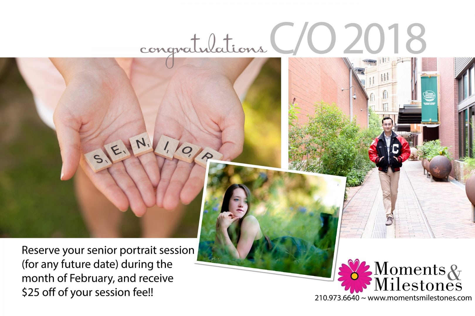 HS Senior Portrait Session Discount!