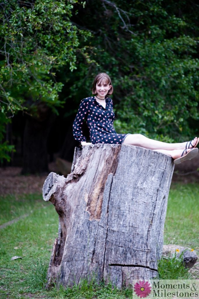 Juliette's Senior Session at Cibolo Nature Center. Boerne Texas Senior Portrait Session