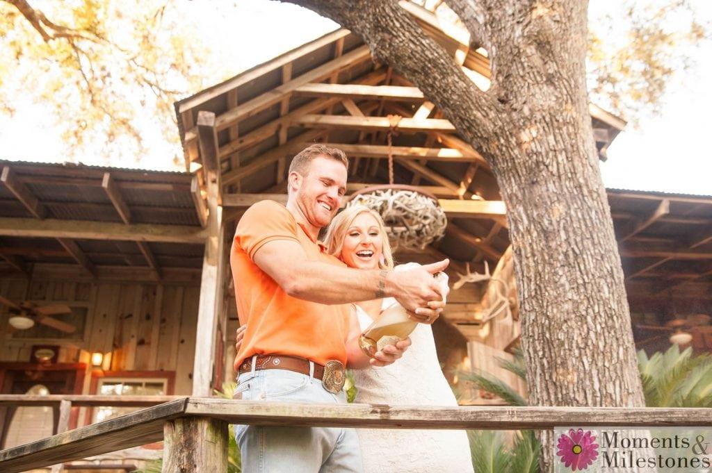 Katelyn & Luke's Gruene Engagement Photography Session with Moments & Milestones