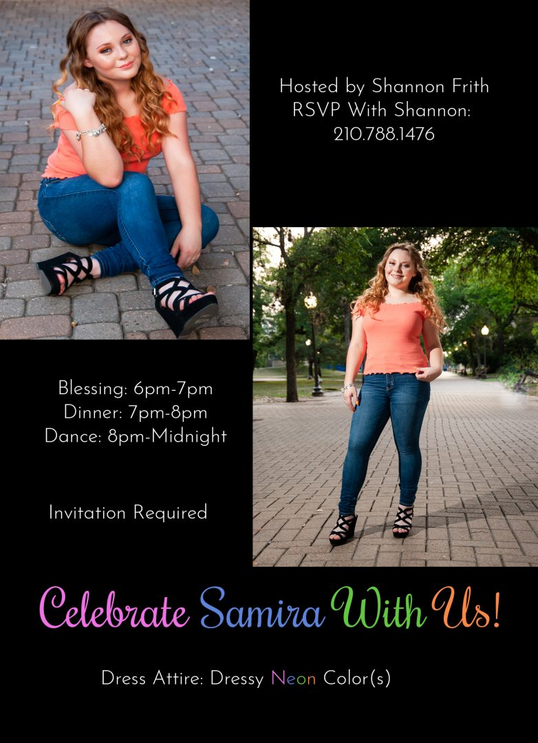 Samira Sweet 16 Invitations from her Portrait Session